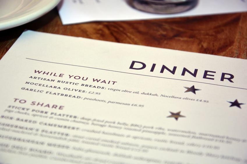 Restaurant Birthday celebration menu - While you wait